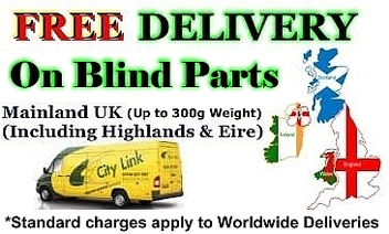 Free Delivery on Vertical Blind Spares within the UK